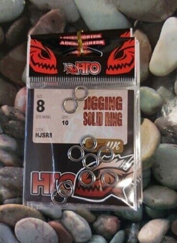 HTO Jigging Solid Ring, for use on metal jigs